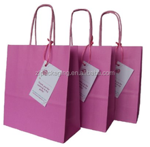 3 x Luxury Pink Paper Goody Loot Party Bags with Thank You Gift Tag
