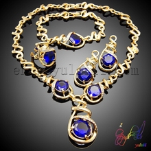 Dark blue diamond jewelry set musical notes shape costume jewelry set cheap and nice costume jewelry sets