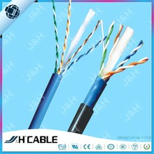 4pr 23AWG Double Sheath UTP Cat6 Outdoor Lan Cable