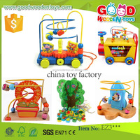 EN71 continued selling intelligent wooden beads toys OEM/ODM educational china toy factory for children