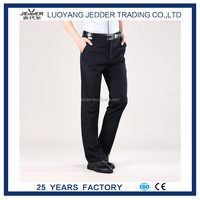 Black color Man 's pants for 60% polyester fiber with press man's trousers