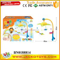 Funny baby mobile hanger safe baby toy musical baby mobile with light and projection