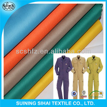workwear twill dyed polyester cotton blend fabric