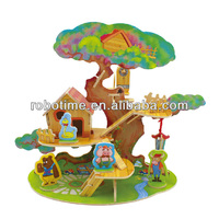 2014 New Wooden Toy 3D DIY Building Puzzle Model for Kids