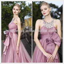 Coniefox 2012 Latest Beautiful Halter Flower Lady Gorgeous Bridesmaid Dress 80191