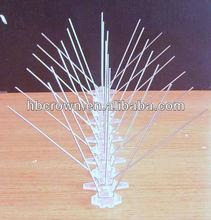 soporte plástico perforado con púas de alambre anti pájaros