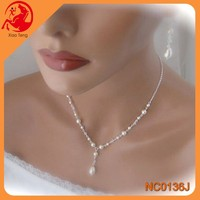 5 years high quality jewewelry supplier/ODM/OEM ACCEPT Factory Handmade Pearl Bride Tassels Necklace wholesale