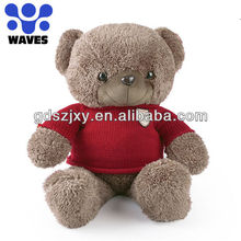 La alta calidad, felpa oso de peluche con sweater peluches