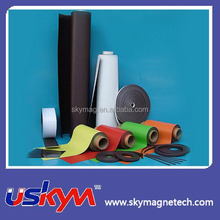 colorful magnetic rubber sheet material flexible magnet