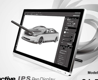 19 inch drawing and writing touch screen tablet PC monitor with electromagnetic pen