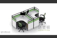 2 persons thin call center cubicles cheap used office wall partitions T style