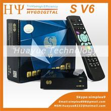 Factory Original S V6 ,S-V6 Full HD Satellite Receiver ,Mini Case,Support WEB TV,3G