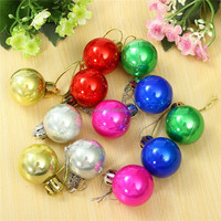 12pcs/lot Newest Christmas Tree Baubles Ornament New Year Diameter 3cm Light Balls Wedding Party Holiday Decorations Supplies