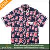 American style short sleeve men's custom all over printed shirt