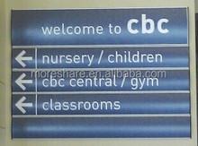 aluminum wayfinding directory sign/building sign/name plate
