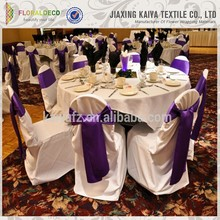 Wholesale cheap bow wedding party satin chair cover