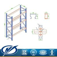 Custom Fit Overstock Warehouse Heavy Equipment Collapsible Steel Pallet Shelving