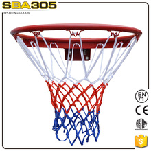 solid basketball ring with net