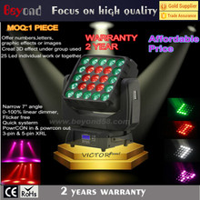 Hotsale 25x4in1 15w RGBW moving head led flat panel lighting offers the option display numbers,letters,graphic effects or images