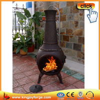 Classical solid outdoor cast iron chiminea