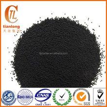 Super conductive carbon black, free flow powder carbon black
