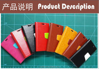 Wholesale smartphone wallet shape leather case color matching for Sony M35h