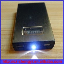 2015 hot sell led digital display power bank 20000mah with flashlight