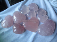 Natural Good quality rose quartz crystal hearts crystal gifts/crafts for sale