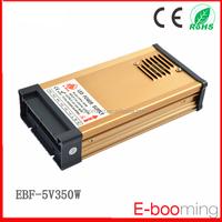 2015 Hot Sale 5V 350W rainproof ac dc power supply 222.5*108*48mm /IP65 aluminum case power supply similar with SANPU