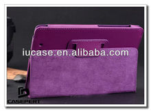 PU leather standing tablet case cover sleeve for Google Nexus 7 with automatic wake/sleeping function