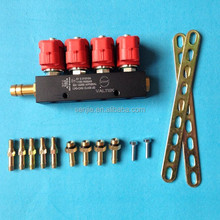 CNG dual fuel injector rail