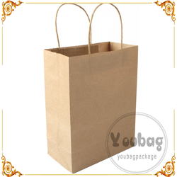 Reusable Brown High Quality Craft Shopping Paper Bag