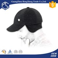 Fancy soft wool ear flaps baseball cap