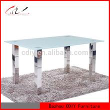 De acero inoxidable de mesa de comedor de diseños