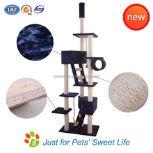 2015 top quality wholesale sisal cat scratcher cat tree house free samples