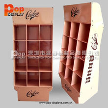 oem/odm pop cardboard floor display with pocket