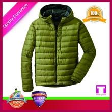 Sportswear waterproof plain dyed down jacket feather in jacket