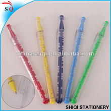 intelligence item for child clear plastic ball pen