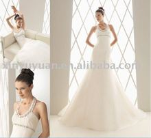 grace fairy from wonderland in vintage halter strap wedding gown AIW-085