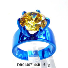 2015 CZ Stone Blue Plated 925 Silver Ring Fashion Party Ring Accepted By paypal
