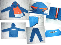 New style polyester waterproof safety reflective rain suit for kids