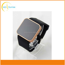 2015 new trendy young person custom silicone jelly wristband led watches wholesale
