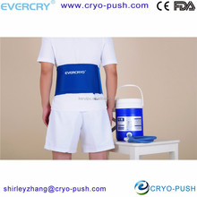 back pain prevention /treatment with ice bag for lower back spasm or hip pain causes