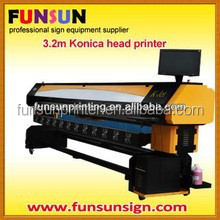 K-JET 3.2m outdoor large format solvent printer with Konica KM512MH/14pls heads ,1440DPI for PE,PP,ABS,PMMA,PVC etc