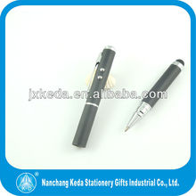 2014 4 in 1 laser pointer stylus led light ballpoint multifunctional pen