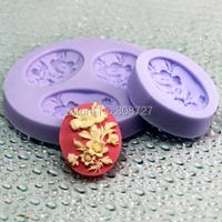 Николь f0079 тройной полостей 3d мини-цветок дизайн помадной торт украшение силиконовые резиновые формы