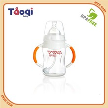 milk bottle with handle small baby feeding bottle with handle
