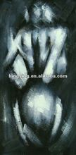 Black and white hot nude women Oil Painting on Canvas