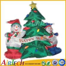 Fashionable inflatable christmas cartoon,christmas tree for sale