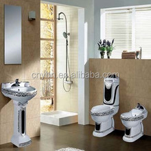 Chaozhou Ceramic Sanitary Ware Color Bathroom Two Piece WC